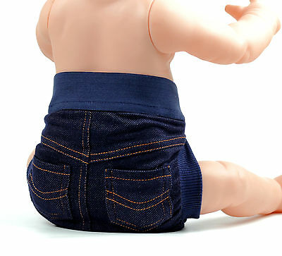 2015 Reusable Cloth Nappy Washable Pocket Diaper Denim Jeans baby nappies