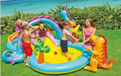 Outdoors-Children-Fun-Water-Play: Dinoland Inflatable Play Center