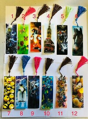 3D Lenticular Assorted Bookmarks With Long Tassel Gift