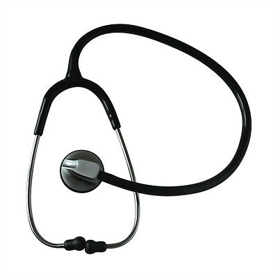 1pc Adult and child single head Stethoscope Black-plated New