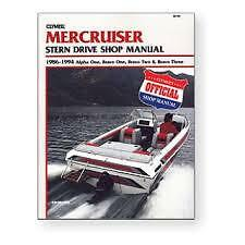 MERCRUISER  Workshop Manual 1986 - 1994 B742 CLYMER ALPHA, BRAVO Drive & Engines