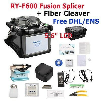 RY-F600 Fusion Splicer + Optical Fiber Cleaver Automatic Focus Function FastShip