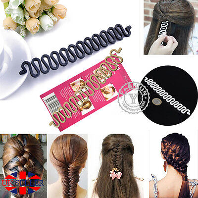 French Braid Plaiting Twist Braider Roller Hook Bun Maker Hair Styling Tool Hot