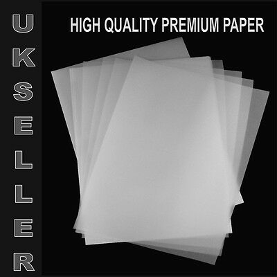 10 X A4 TRANSLUCENT TRACING PAPER 95gsm FOR ART,CRAFT,COPYING OR CALLIGRAPHY ETC