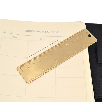 12 cm Brass Ruler Bookmark Stationery Students Measurable Tools Office New 1 Pc