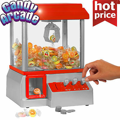 Carnival Style Vending Arcade Claw Candy Grabber Prize Machine for Kids toys