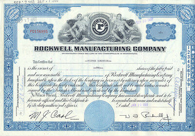 USA Rockwell Manufacturing alte Aktie 1961