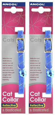 Ancol Reflective Softweave Cat Collar Blue 2 Pack Deal