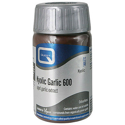 Quest Kyolic Garlic 600 Odourless 90 Tablets For 60 50% Extra Free