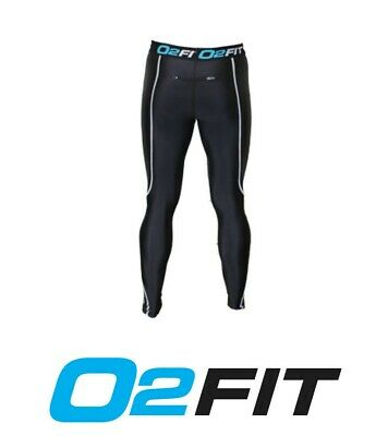 Mens Black White Compression Tights New Pants Sports Gym Run Base Workout Layers