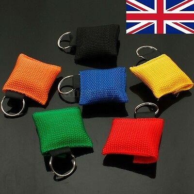 CPR Mask Resuscitator Keychain Key Ring Emergency First Aid Face Shield UK