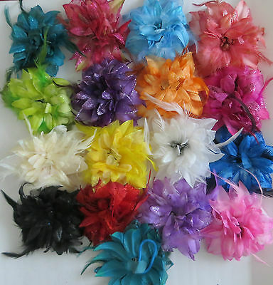 Bridesmaids,Flower Feather Bead Corsage Hair Bubble Fascinator Hairband and Pin