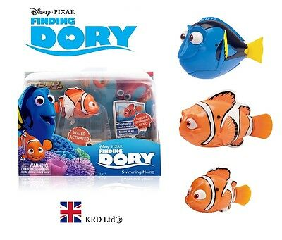 Genuine FINDING DORY Robo Fish Water Activated Robotic Pet Clown Nemo Kids Gift