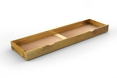 Solid Pine Under Bed Storage Drawer on Wheels **Various Colour & Size