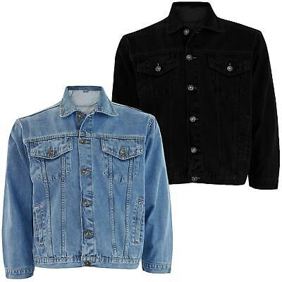 New Mens True Face Branded Denim Loose Fit Cotton Summer Jacket Casual