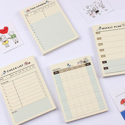 Mini Office Monthly Weekly Planner Check List Time Schedule Journal Memo #Y5