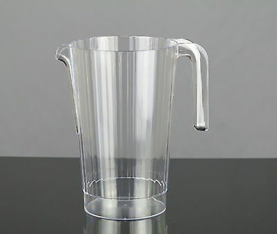 10 x Large Hard Disposable Plastic Pitchers Jugs 1.4 Ltr - For Party Drinks