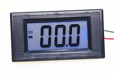 DC 4-20MA 7 Segments Blue LCD Display Current Tester Panel Ammeter Guage