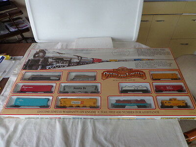 Ho Scale Overland Limited Ready-To-Run Train Set Union Pacific Steam Locomotive