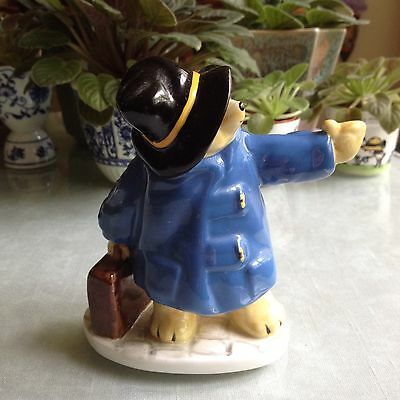 Hitchhiking Paddington Bear. 1976 Bone China. England. FREE Shipping!