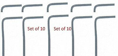 Hex Key-Allen Wrench 1.5mm Black Oxide Short Arm Pack Of 10 Brand New!