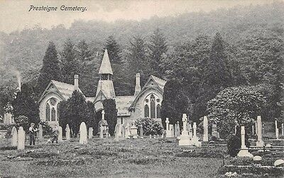 WALES - PRESTEIGNE, Cemetery, Radnorshire - Printed Postcard by E.J. Jones