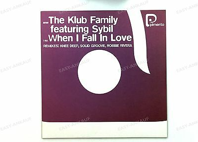 The Klub Family Featuring Sybil - When I Fall In Love BEL Maxi 2000 //2