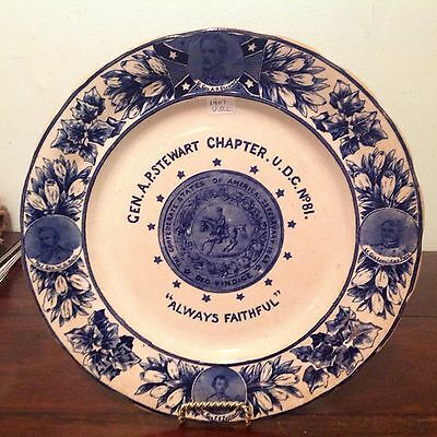 1907 UDC United Daughters Confederacy Gen AP Stewart Chapter Chattanooga Plate