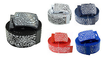 Fashion Bandanas Canvas Military Web Belt & Buckles 60 inches 5 Color