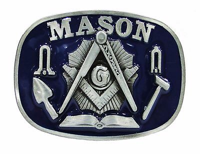 Masonic Belt Buckle With Tools,  (Dtb0440)