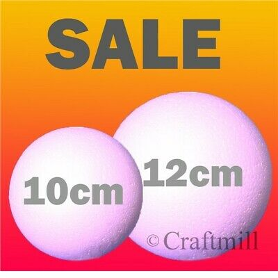 100mm & 120mm SOLID Polystyrene Balls - Foam Styrofoam Craft Sphere Sweet Tree