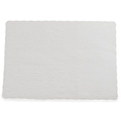 Paper Placemats 100 Pack Scalloped Edge Economy Off White Free Shipping
