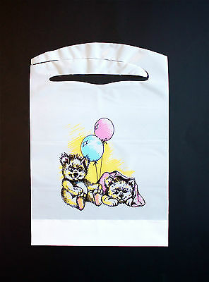 Disposable Bears And Balloons Bibs 100 Pack  Plastic