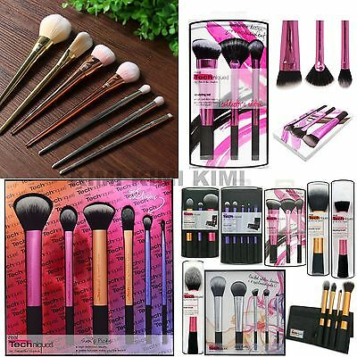 New Real TECHNIQUES Makeup Brushes Core Collection/Starter Kit/Sam+Nic Pick Set