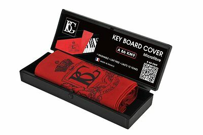 BG Piano Keyboard Cover - Red Microfiber