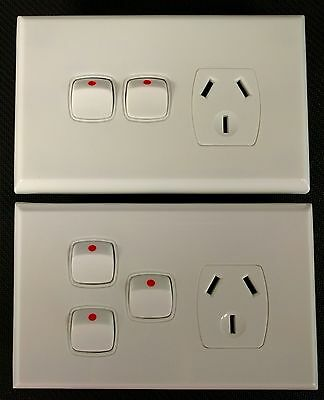 Powerclip Series Single Power Point With 1/2 Extra Switch White