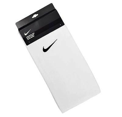 Nike White embroidered golf fitness sports workout towel - Nike Golf Towel