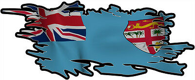 FIGI RIPPED FLAG Size apr. 300mm by 122mm GLOSS LAMINATED DOES NOT FADE
