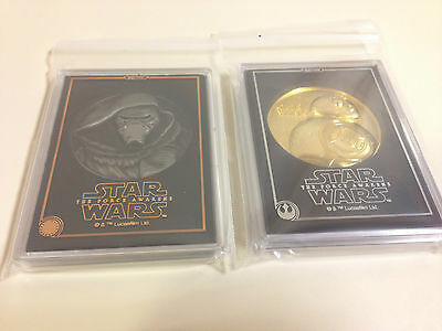 Star Wars The Force Awakens BB-8 Kylo Ren 2 set Medal Limited Edition Japan New