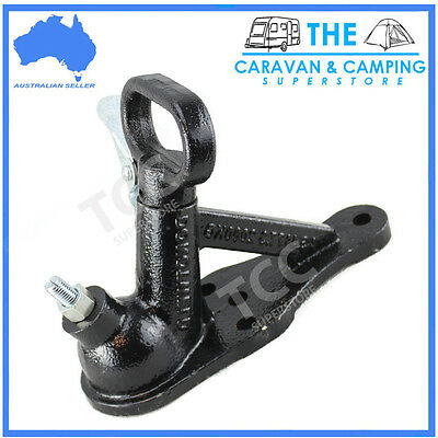 Quick Release Coupling Hitch 2 / 4 Hole 50Mm 2000Kg Rated Caravan Trailer Part