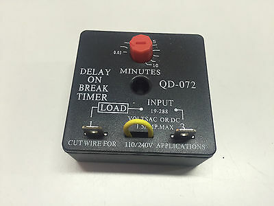 Delay on Break / Brake Timer with 0.03-10 minute adjustable 19-288V 1.5AMP QD072
