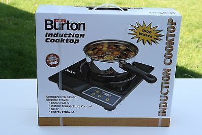 Max Burton 6000 1800-Watt Portable Induction Cooktop + Interface Disk NEW