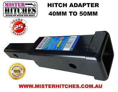 HITCH RECEIVER ADAPTER 40mm to 50mm TOW BAR BIKE CARRIER RACK SUBARU COMMODORE