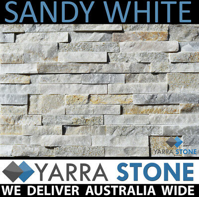 Stack Stone Wall Cladding / Stacked Stone / Natural Stone-Sandy White Stackstone