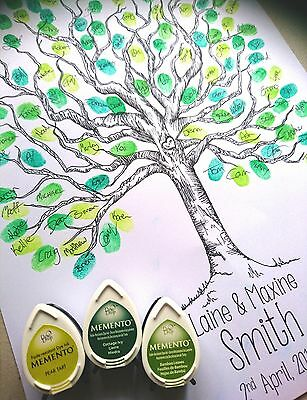 Fingerprint Tree Personalised Wedding Guest Book Print - All Sizes