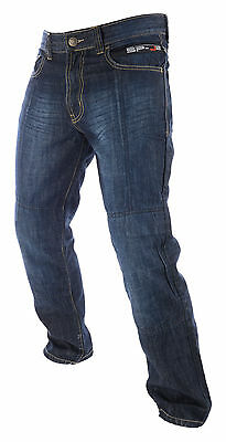 Oxford SP-J2 Aramid Protective Motorcycle Jeans Denim CE Knee Armour Blue Reg T