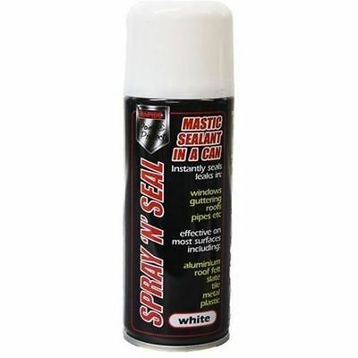1 x Spray Mastic Instant Leak stop Spray N Seal Roofs Gutters pipes 200ml WHITE