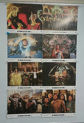 Big Trouble in Little China (1986) Lobby Card Front Of House Cards Set of 8 Rare