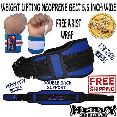 Weight Lifting Fitness Gym BodyBuilding Neoprene Wide Double Back Support Belt