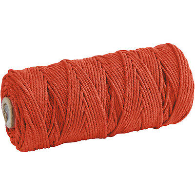 Cotton Twine, L: 120 m, thickness 2 mm, orange, Thick quality 12/36, 250g